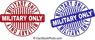 Grunge MILITARY ONLY Textured Round Stamps