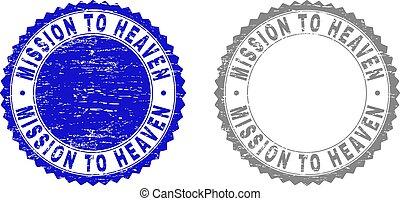 Grunge MISSION TO HEAVEN Textured Stamp Seals