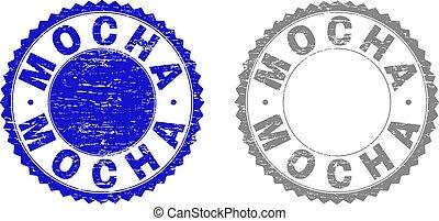 Grunge MOCHA Scratched Stamps