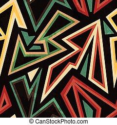 grunge, model, van een stam, seamless, effect, geometrisch