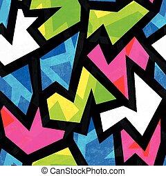 grunge, modello, seamless, effetto, luminoso, geometrico