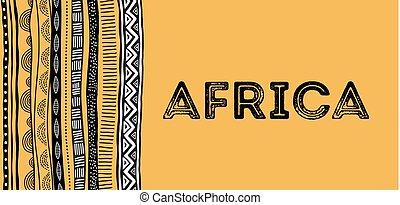 grunge, modello, tribale, tradizionale, fondo, aviatore, africano