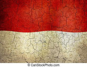 Grunge Monaco flag