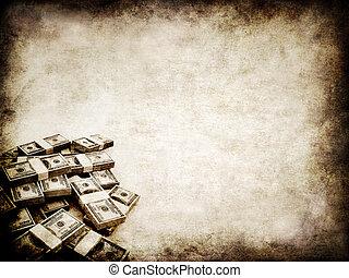 grunge money - 3d rendered illustration of an old paper...