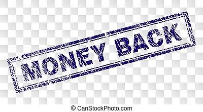 Grunge MONEY BACK Rectangle Stamp