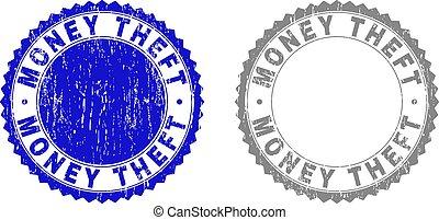 Grunge MONEY THEFT Textured Stamps