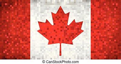 Grunge mosaic Flag of Canada