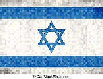 Grunge mosaic Flag of Israel