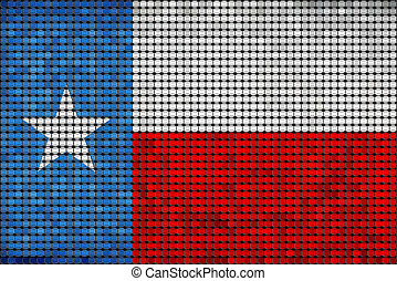 Grunge mosaic flag of Texas with effect