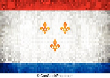 Grunge mosaic Flag of the City of New Orleans