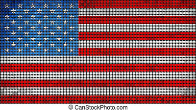 Grunge mosaic flag of USA with effect