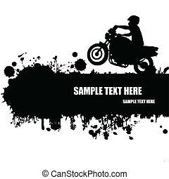 grunge, motocross, plakat