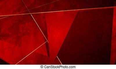 grunge, mouvement, rouges, lignes, constitué, arrière-plan doré