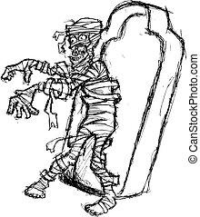 grunge mummy walking