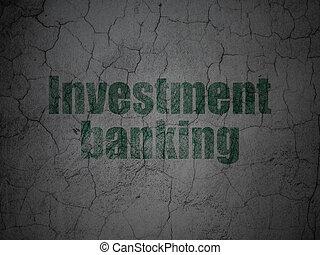 grunge, mur, argent, banque, fond, investissement, concept: