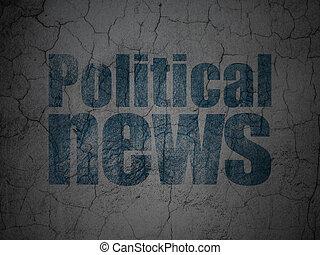 grunge, mur, politique, fond, nouvelles, concept: