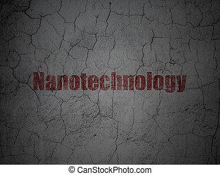 grunge, mur, science, fond, nanotechnology, concept: