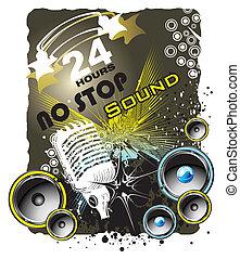 Grunge music back ground - Music Event grunge style...