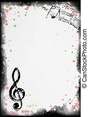 Grunge Music Background. Background series - see more in my ...