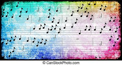 Grunge Music Background
