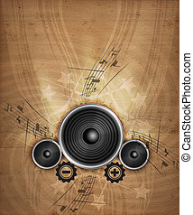 Grunge Music - Abstract Illustration of electronical Music...