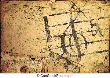 Grunge Musical Background - High Res Abstract Background for...