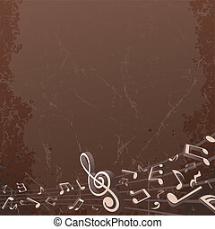 Grunge Musical Background. Vector Backdrop Image