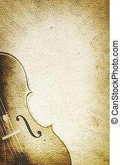grunge, muziek, achtergrond, met, cello