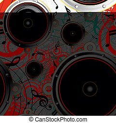 grunge, muzikalisch, achtergrond