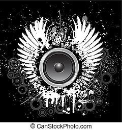 grunge, muzyka, tło