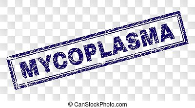 Grunge MYCOPLASMA Rectangle Stamp