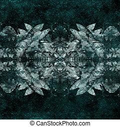 Grunge Mystic Symbol - Collage digital technique grunge...