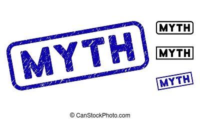 Grunge Myth Rectangle Stamps