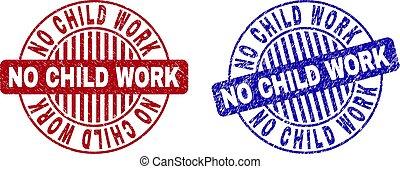 grunge, não, selo, trabalho, selos, criança, redondo, textured