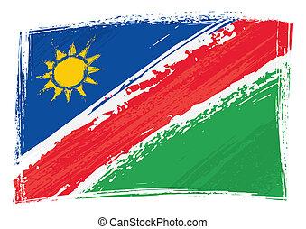 grunge, namibia markierungsfahne