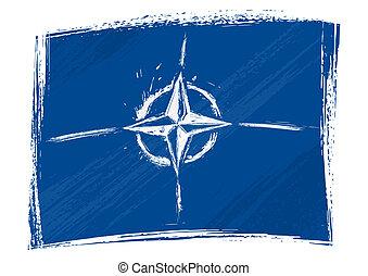 Grunge NATO flag