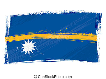 Grunge Nauru flag