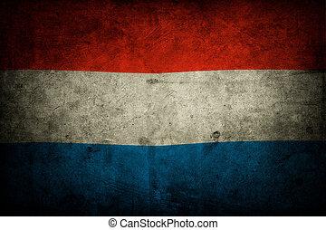 Grunge Netherlands flag