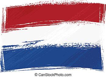 Grunge Netherlands flag - Netherlands national flag created...