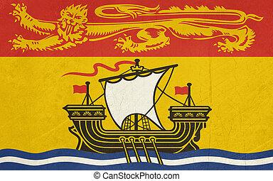 Grunge New Brunswick state flag