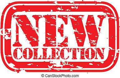 Grunge new collection rubber stamp,