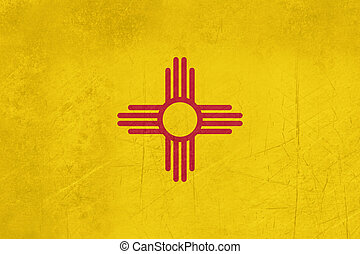 Grunge Illustration of New Mexico state flag, United States of America.