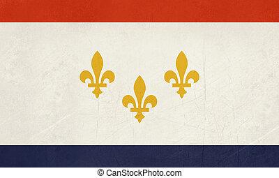 Grunge New Orleans flag