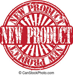 Grunge new product stamp, vector