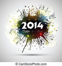Grunge New Year background