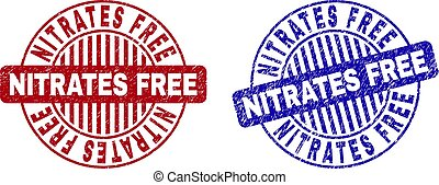 Grunge NITRATES FREE Textured Round Stamp Seals