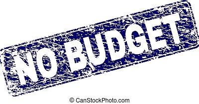 Grunge NO BUDGET Framed Rounded Rectangle Stamp