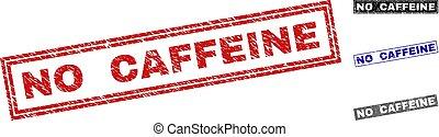 Grunge NO CAFFEINE Scratched Rectangle Watermarks