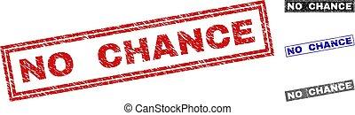 Grunge NO CHANCE Textured Rectangle Stamp Seals