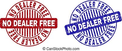 Grunge NO DEALER FREE Textured Round Watermarks